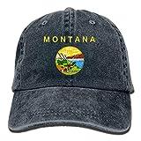 Fashion Home Montana Flag Stylish Denim Baseball Adjustable Caps Hats