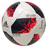 adidas Herren FIFA Fussball-Weltmeisterschaft Knockout Top Glider Ball White/Solred/Black 4