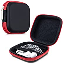 kwmobile 31471.09 Funda auricular / audífono accesorio - Accesorio para auriculares (Funda, Universal, De plástico, Negro, Rojo, SECURE HOLD: With the practical hard case of kwmobile your headphones will be protected against..., 77 mm)