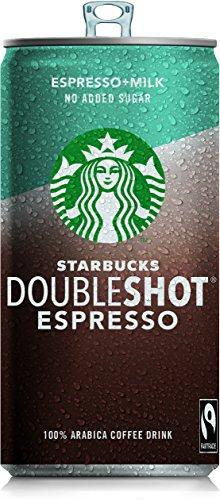 Starbucks DoubleShot Espresso no added sugar, 200 ml – Erfrischendes Kaffee Kaltgetränk für...