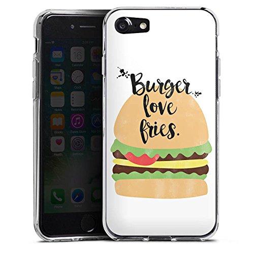 Apple iPhone X Silikon Hülle Case Schutzhülle Burger Fastfood Essen Silikon Case transparent