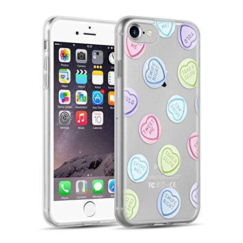 iPhone 8, iPhone 7 Hülle | JAMMYLIZARD Transparente Schutzhülle Sketch Back Cover Case aus Silikon, Mario Brüder BONBONHERZ
