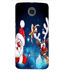 ColourCraft Christmas Image Design Back Case Cover for MOTOROLA GOOGLE NEXUS 6