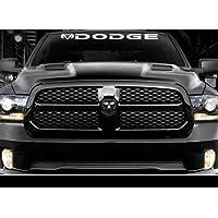 SUPERSTICKI Powered by Mopar Decal Sticker Logo Dodge ram Hemi R//T Nascar SS USA Pair aus Hochleistungsfolie Aufkleber Autoaufkleber