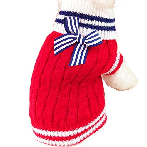 Gwood Neue Herbst/Winter-Tier-Kostüm Hund-Pullover Marine Bow-Haustier-Pullover Sweaters für -