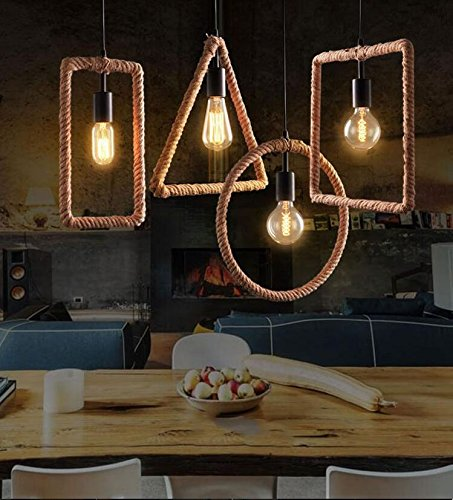 Geometric Rope Hanging Lamp