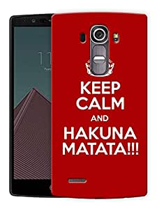 """Humor Gang Keep Calm And Hakuna Matata Printed Designer Mobile Back Cover For """"LG G4"""" (3D, Matte Finish, Premium Quality, Protective Snap On Slim Hard Phone Case, Multi Color)"""