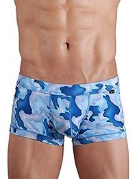 Xuba Sous-vêtements Homme Coton Boxer de Bain Caleçons Bleu camouflage