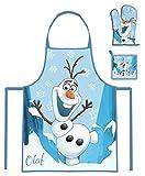 Frozen Olaf 3 Teiliges Küchen-Set Schürzen-Set für Kinder im Geschenkkarton