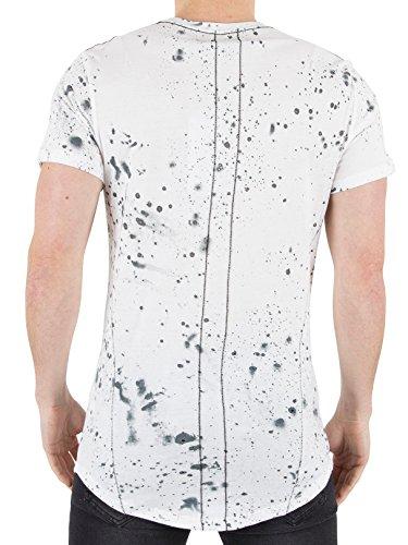 Religion Herren Geist Speckle-T-Shirt, Weiß Weiß