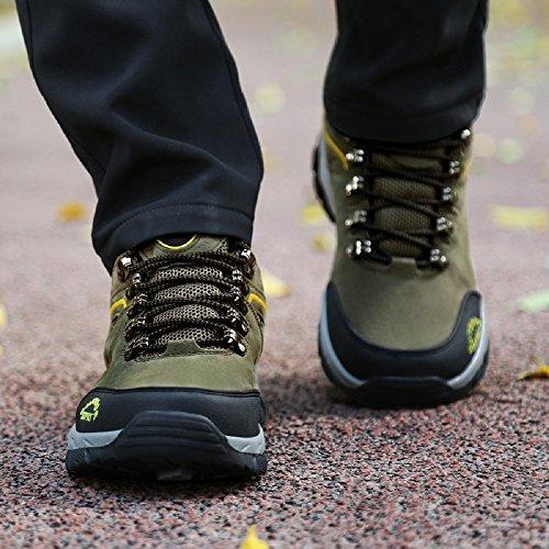 JOYTO Uomo Scarpe da Escursionismo Arrampicata Trekking Sportive All'aperto Camminata Grigio Marrone Army Green 39-48 Verde