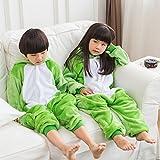 ABYED Adulte Unisexe Anime Animal Costume Cosplay Combinaison Pyjama Outfit Nuit Vêtements Onesie Fleece Halloween Costume Soirée de Déguisement,Grenouille Chidren Taille 115 -pour Taille: 126-137cm