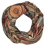N.N. Loop Damen Schal und Tuch Schlauchtuch Ethno mit bunten Kreisen und Punkten