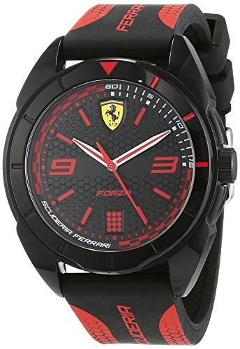 Scuderia Ferrari Unisex Analog Quarz Uhr mit Silikon Armband 830515