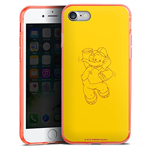Apple iPhone 7 Silikon Hülle Case Schutzhülle Benjamin Blümchen Fanartikel Merchandise Elefantentanz Silikon Colour Case neon-orange