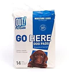 OUT! Out Moisture Lock, Dog Training Pads (14 Pack)