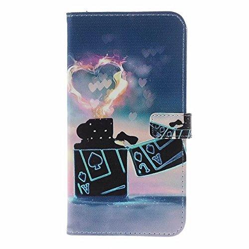 iPhone 7 Hülle,iPhone 8 Hülle,Ttimao Abnehmbare PU Leder Flip Wallet Schutzhülle Drop Resistance Kratzfester Stoßfest, mit Card & ID Slots-Feuerzeug
