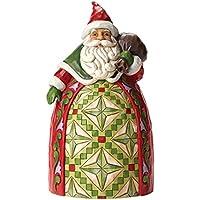 Enesco Heartwood Creek Oggetto Decorativo Santa con Borsa, Resina, Multicolore - Enesco Natale