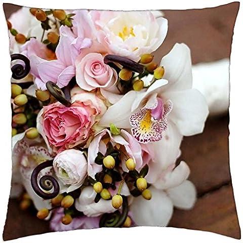 wedding-flowers-bouquet - Throw Pillow Cover Case (18