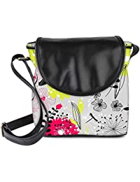 Snoogg Retro Floral Seamless Background Womens Sling Bag Small Size Tote Bag