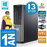 PC Dell 390 DT Core I3-2120 RAM 4GB Scheibe 1 tg Wifi W7