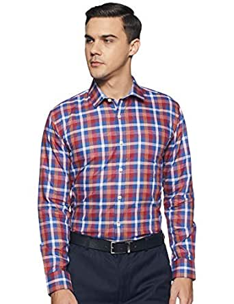 Amazon Brand - Arthur Harvey Men's Checkered Formal Shirt