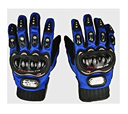 AutoStark Pro Biker Bike Riding Full Gloves (Size,Colour) Variation (M, Blue)