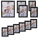 Giftgarden Cadre Photo Cadre en Bois Cadre Mural Multiple Taille 11 Pièces