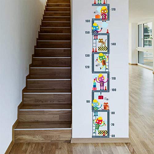 Lyiting Roboter Im Obergeschoss Höhe Maßnahme Wandaufkleber Für Kinder Kinderzimmer Dekor Wachstumstabelle Wandtattoo Art Boy'S Room Decor