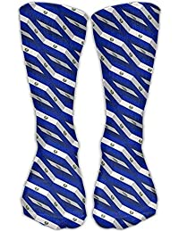 El Salvador Flag 3D Art Pattern Casual Socks Crew Socks Crazy Socks Soft Breathable For Sports