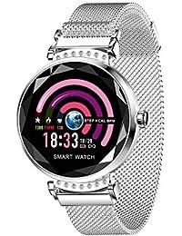 Tianya H2 Mode Women Blood Pressure Sport Smart Armbanduhr Schrittzähler Sport Loop (Silber)