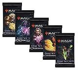 Magic The Gathering MTG Core-Set M19 - 5X Booster Pack mit komplettem Motiv-Set - Englische Ausgabe
