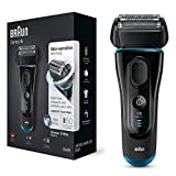 Braun Series 5 5140s Men's Electric Foil Shaver, Wet and Dry, Pop Up Precision Trimmer, Rechargeable and Cordless Razor Black/ Blue