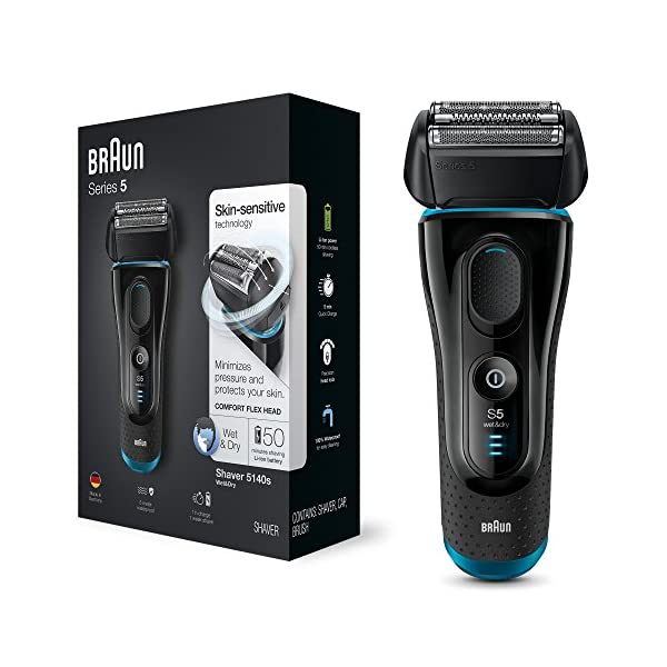 Braun Series 5 5140s Men's Electric Foil Shaver with Clean and Charge System with Wet/Dry Razor 51XGlcPsWNL