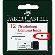 Faber-Castell 123198–Compás de minas, 2mm, 12unidades)