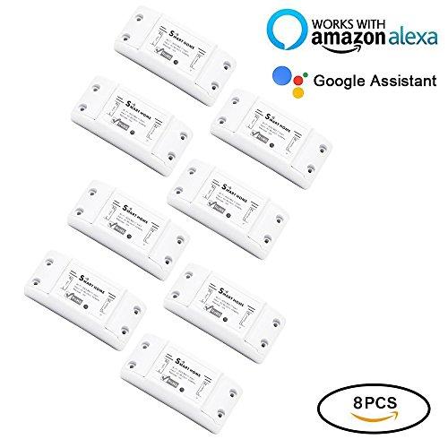 Fi Fernbedienung Drahtlos Strom Schalter Switch Intelligente Zeitschaltuhr Steuerung Über Aamazon Echo Alexa,Android IOS APP (8) ()