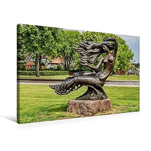 Premium Textil-Leinwand 75 cm x 50 cm quer, Bronze-Skulptur der