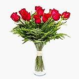 Ramo de 12 rosas - París - Ramos de flores naturales a domicilio - Flores frescas - Envío a domicilio 24h GRATIS - Tarjeta de