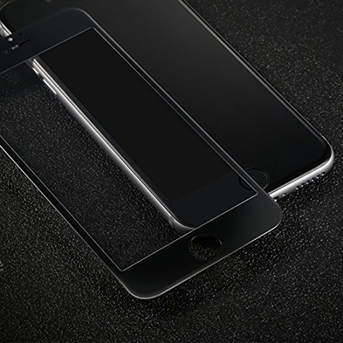 Solobay iPhone 7schermo Full Cover pellicola proteggi schermo in vetro temperato (11,9cm) da bordo a bordo curvo 3D antiriflesso antigraffio antipolvere per Apple iPhone 7 WHITE WHITE