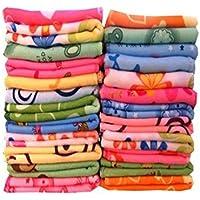 Lucky Cotton Face Towel (Set of 24, Multicolour)