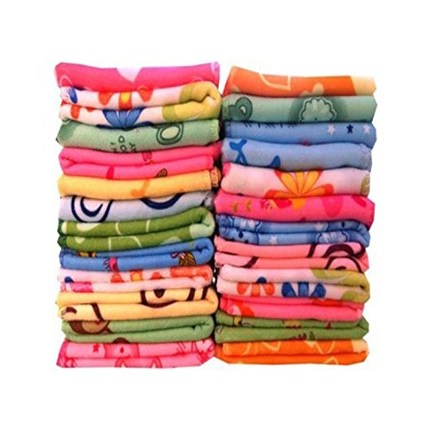 Cotton 12x12 inches Face Towel (24 Pieces)-Multicolor