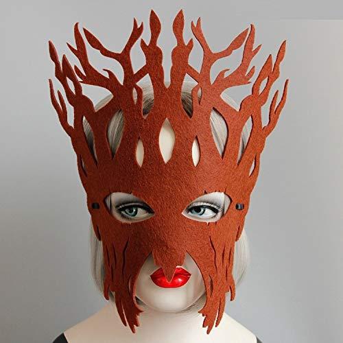 sstadiumsleistungs-Make-Upball-Halloween-Maskengeschenk des Großen Baums,braun,Einheitsgröße ()