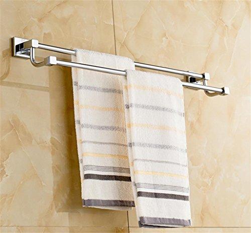 Alle Kupfer Bad Handtuchhalter Bad Handtuch kreative Doppel-Pole Doppelhandtuchhalter Handtuchhalter 50cm Rack