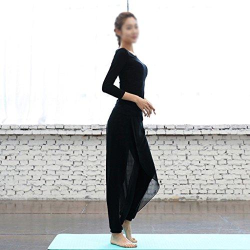 ZCJB Danza Sportiva Fitness Sottile Sottile Danza Rima Vestiti Sexy Di Yoga ( Colore : Bianca , dimensioni : M ) Nero