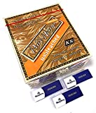 MontCherry Brand Exclusive 3 Tips and Pure Hemp Brand Unbleached King Size Cigarette Rolling Papers Box of 50 booklets Combo Sold by Trendz