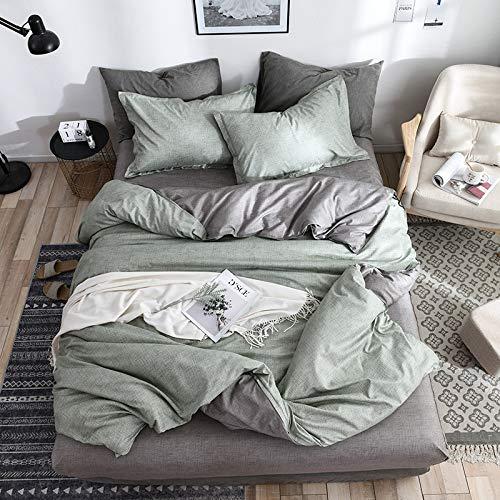 SHJIA Kurze Bettbezug Set Bett Set Twin Double Queen Size Bettwäsche Bettwäsche Bettwäsche Sets Grün 220x240cm (Queen-bett-sets, Türkis)