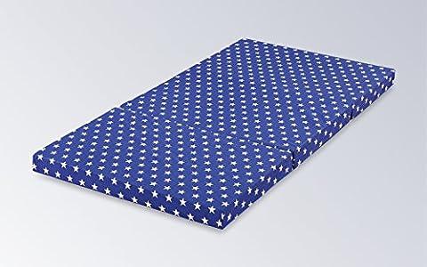 Matelas pliant enfants 120x 60x 6cm lit de voyage Matelas étoiles et sac Lit de voyage matelas Couleur au choix entre Bleu, beige et gris