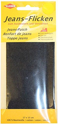 kleiber-17-x-15-cm-patch-reparation-denim-pour-jeans-noir