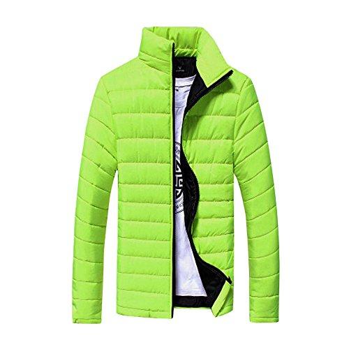 TIFIY Herren Winterjacke Steppjacke Sweatjacke Draussen Wärmejacke Jackenständer Zipper Warm Gesteppt Outwear Mantel M-4XL(Hellblau,3XL)