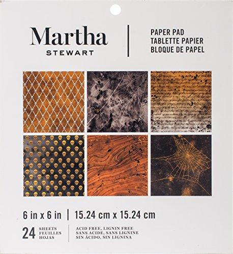 Darice Martha Stewart Crafts 15,2x 15,2cm Halloween Papier Pad schwarz und orange Prints (Martha Stewart Party)